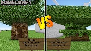 Minecraft: NOOB VS. PRO: VERSTECKTES BAUMHAUS! Welches kann man nicht erkennen? Kaans Build Battle