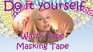 DIY Washi Tape selber machen / DIY / Buntes Klebeband