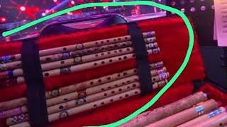 Seruling bambu suling bambu dangdut lobang tiup samping 39 cm