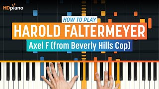 How To Play Axel F From Beverly Hills Cop By Harold Faltermeyer HDpiano Part 1 Piano Lesson