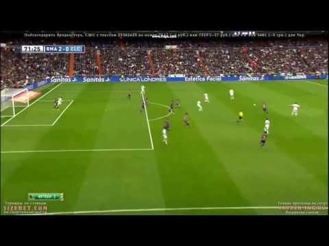 Amazing Goal Gareth Bale / Real Madrid 3-0 Elche 22/02/2014.