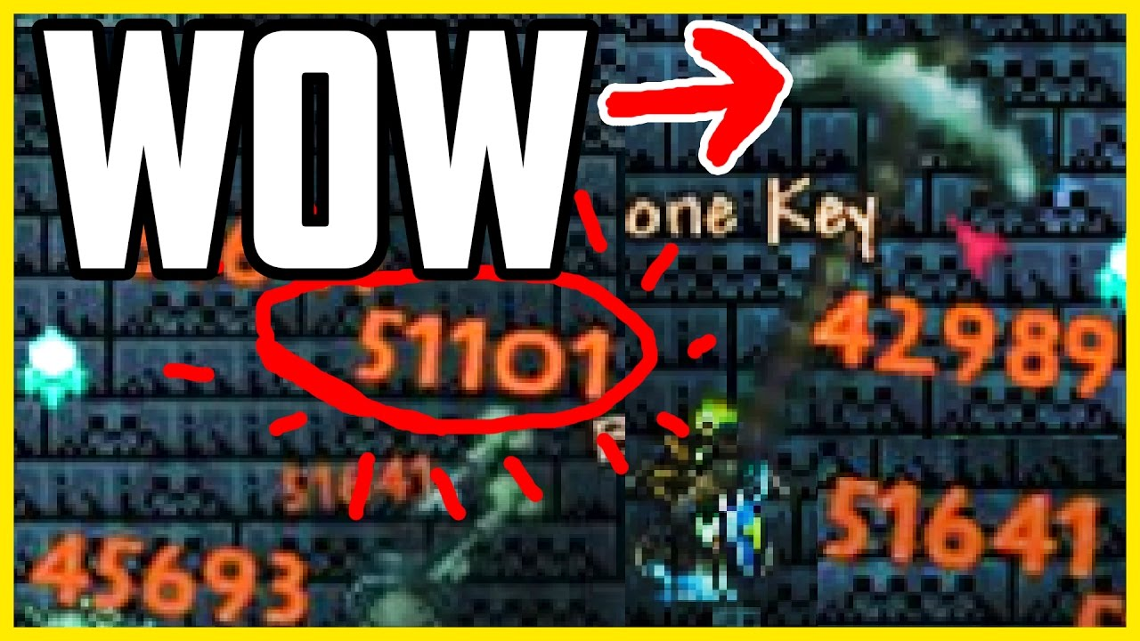 Terraria Legendary Glitches The Highest Damage Weapon In
