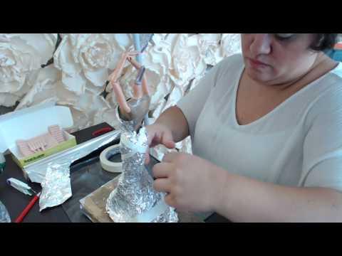caza muñecas - 1 hacemos una replica de vestido novia para la barbie