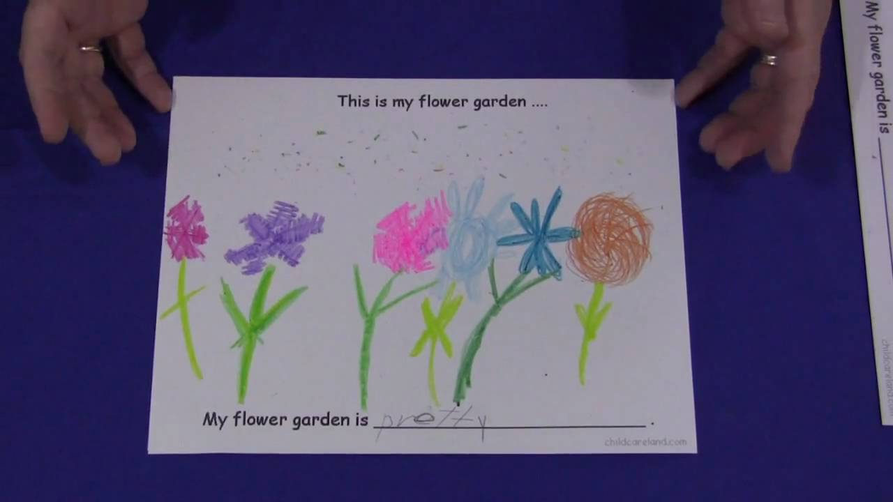 Flower Garden Drawing my flower garden - drawing and writing activity - youtube