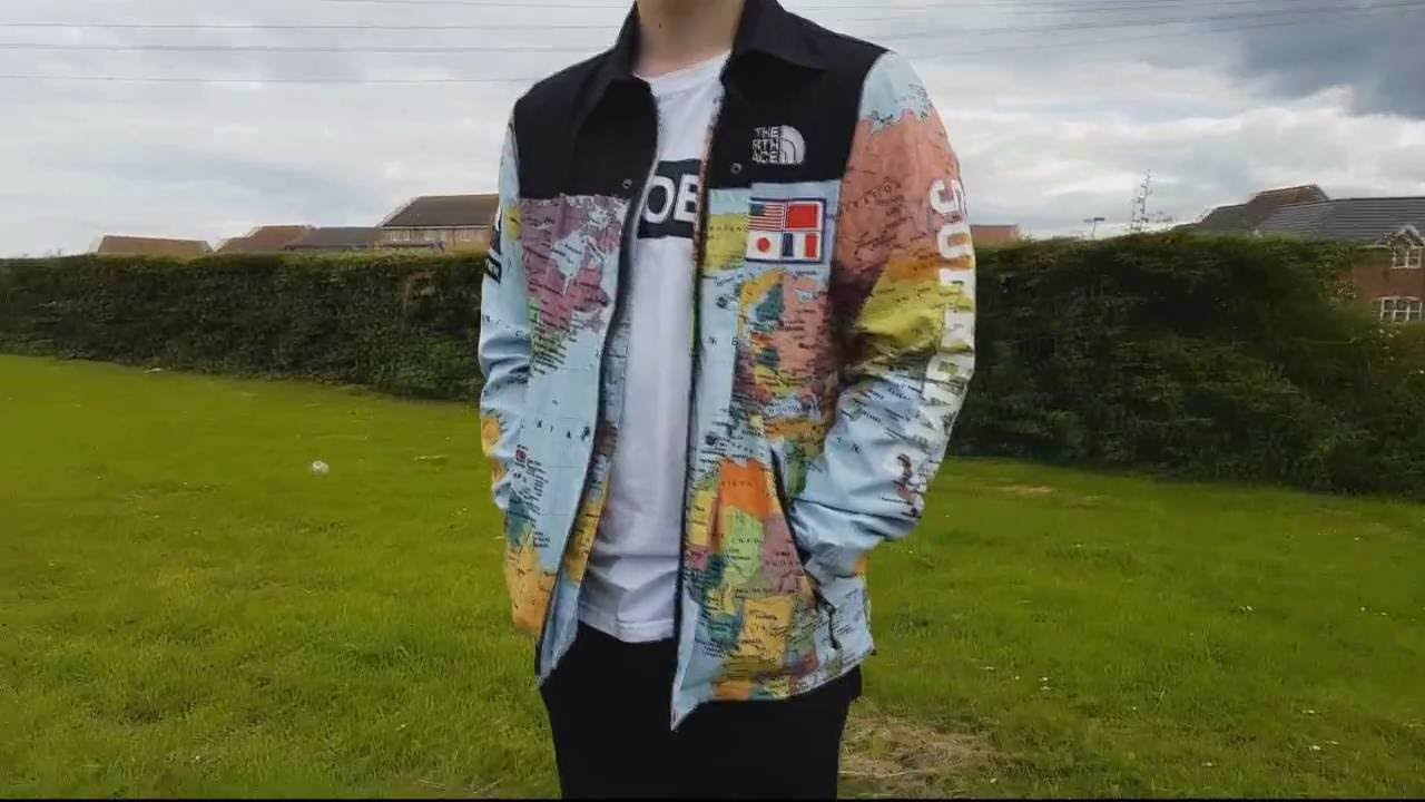 fb83a731f5 Supreme x Northface Map Jacket Rep Review - YouTube