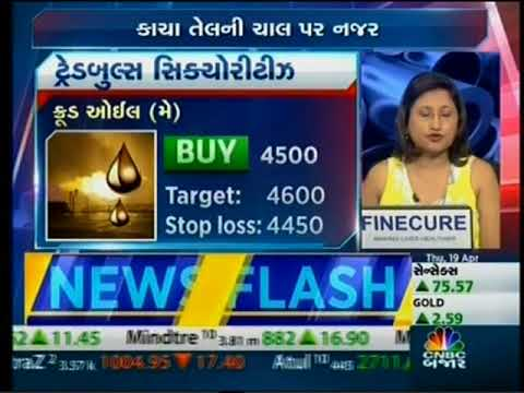 Tradebulls, Mr. Bhavik Patel on CNBC Bajar - Commodity Live on 19 April 2018