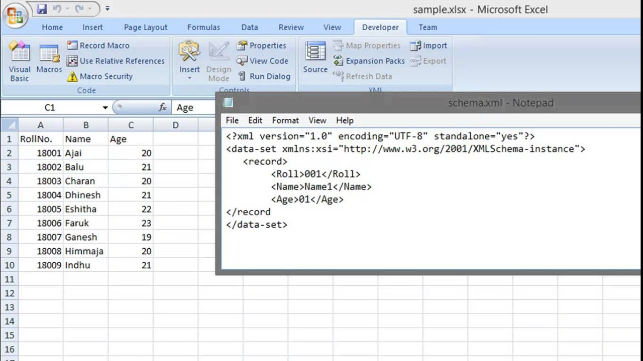 Converting XLS to XML - Tutorial (Excel spreadsheet to XML)