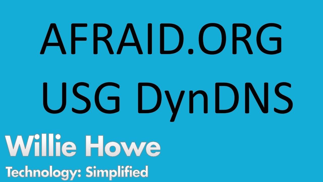 UniFi Dynamic DNS - Afraid org