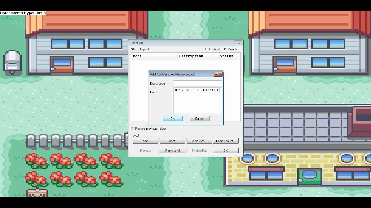 Pokemon Fire Red - Walk Through Walls Cheat