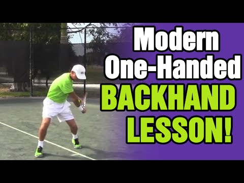 Tennis Backhand - Modern One-Handed Backhand Lesson