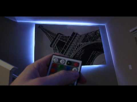 How To Backlight A Painting Or Artwork With Led Lighting Youtube