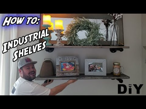 How to Make Industrial Pipe Shelves - DIY Industrial Pipe Shelves