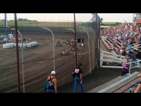 POWRi Midgets Heat 4  Macon Speedway