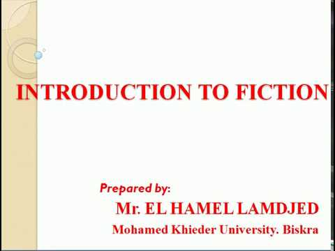 Literature 2 Introduction to Fiction ppt