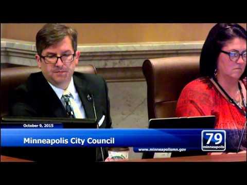 October 9, 2015 Minneapolis City Council
