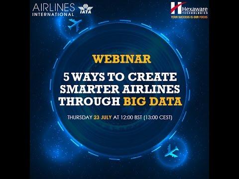 5 Ways to Create Smarter Airlines through Big Data Hexaware