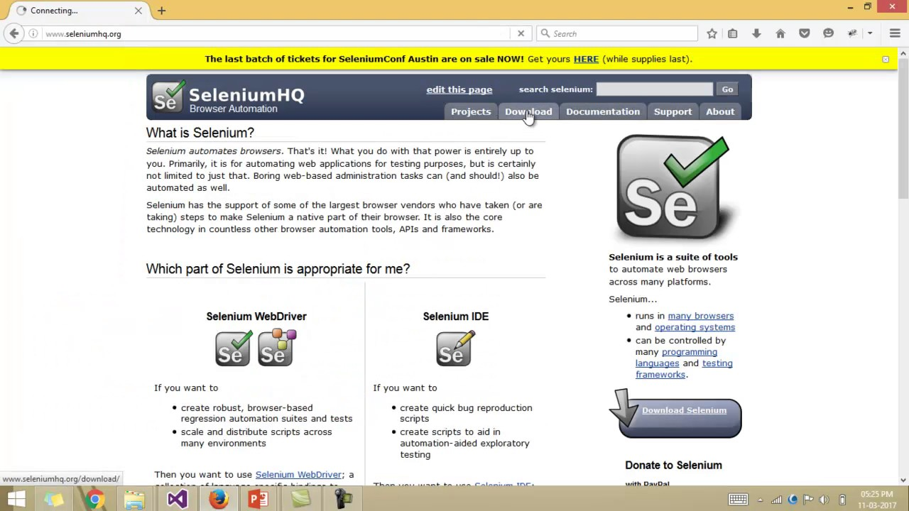 Lecture 23: uploading and downloading files in selenium webdriver.