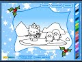 Hello Kitty Coloring Pages - Merry Christmas Hello Kitty Coloring Pages