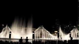 Dubai - Burj Khalifa - Water Fountain II - Bassbor Al Fourgakom