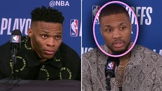 """Download Damian Lillard Says """"Westbrook Is The WORST POINT GUARD In THE NBA"""" And Russell Westbrook GOES CRAZY Mp3 and Videos"""