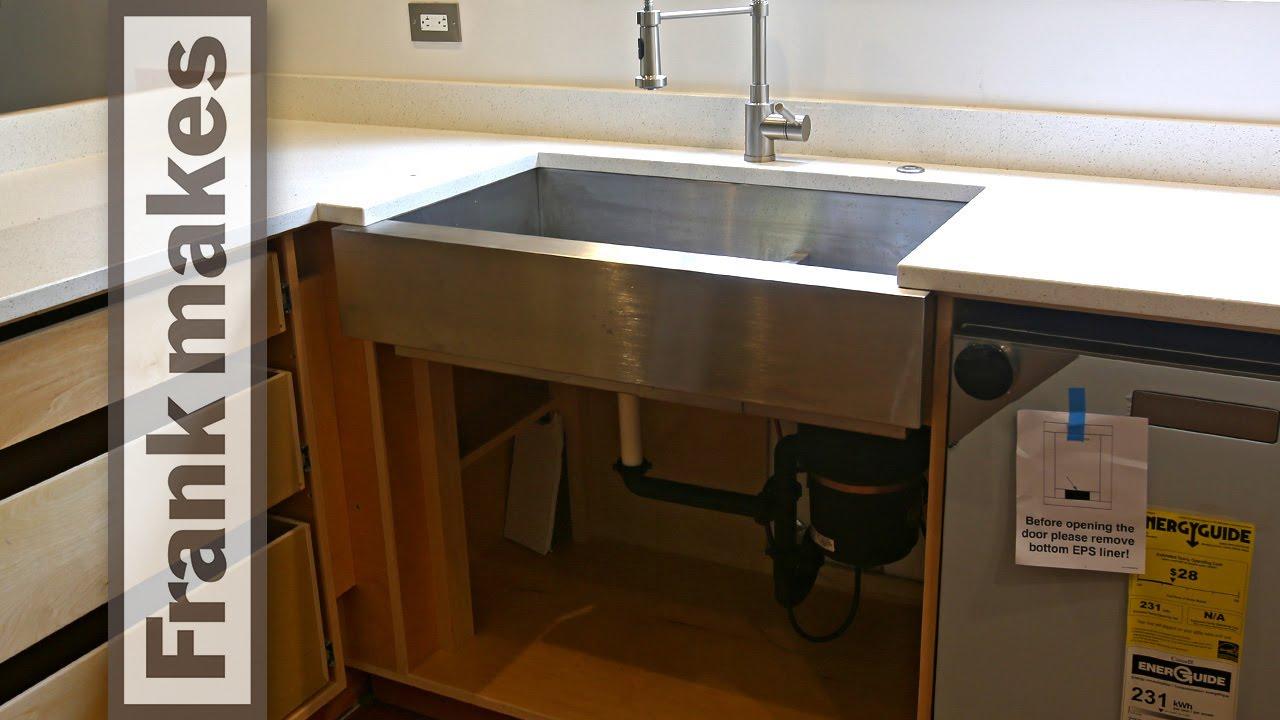 Kitchen Remodel: Part 10 - Sink - YouTube