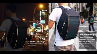 HAWEEL 12W Flexible Solar Panel Power Backpack Anti-theft Bag