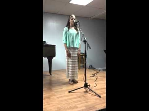 Ava singing Homeward Bound at The Melody Within, LLC music recital on May 1, 2016