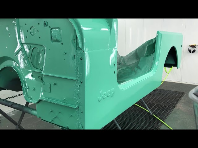 1978CJ-7 Jeep  in Spray Booth