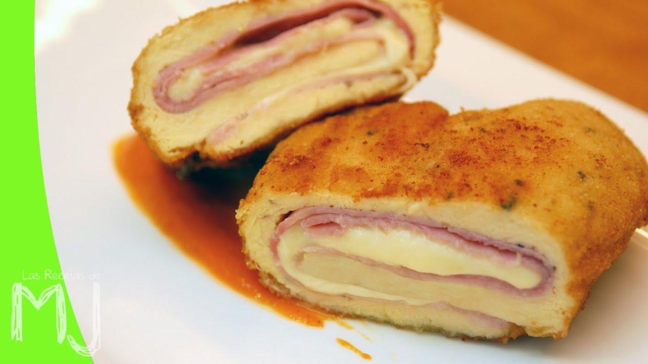 Resultado de imagen para Prepara esta pechuga de pollo rellena de jamón y queso para un rico almuerzo