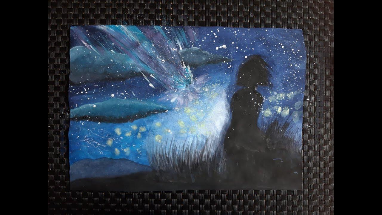 [Speed Drawing] ✦ Night Sky ✦ 星を落とす
