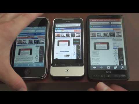 HTC Legend Browser Test