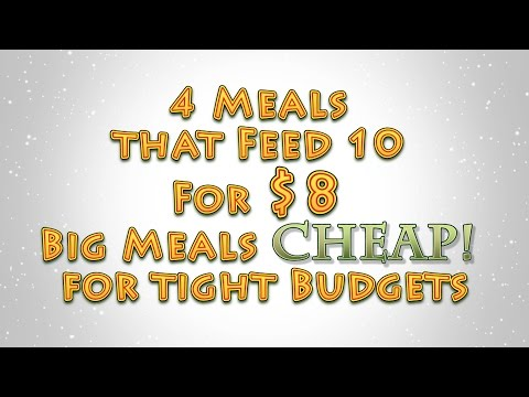 4 Meals that Feed 10 For $8 Big Meals CHEAP for tight Budgets