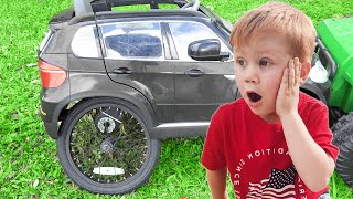 Makar found Right Wheel and Fixed Toy Car