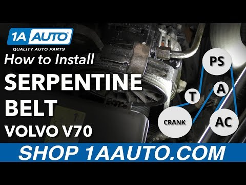 How to Replace Serpentine Belt 00-07 Volvo V70