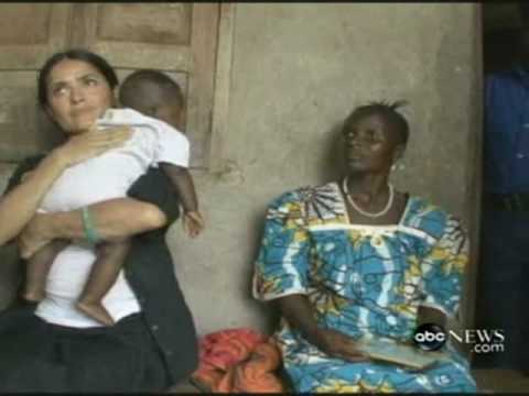 SALMA HAYEK Breast Feeds A Hungry African Child | Actress Act Of Love ! thumbnail