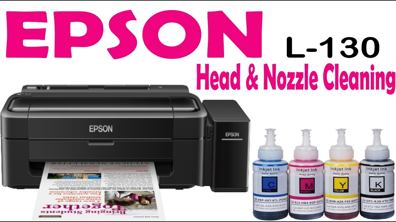 How to Cleaning Epson L130 Head & Nozzle For Better Print | Bangla  Tutorial। Provat Sen