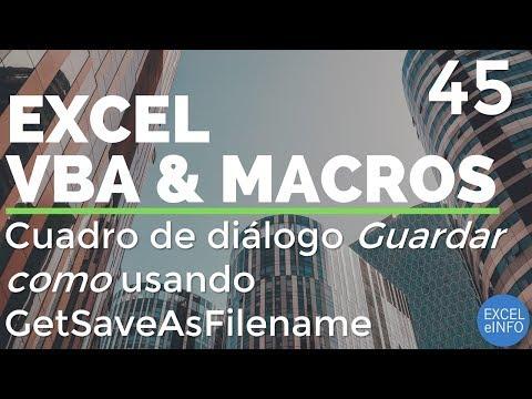 Curso Excel VBA y Macros – Cap  45 – Cuadro de diálogo