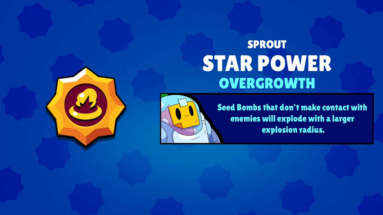Brawl Stars: Purchasing sprout's Overgrowth - YouTube
