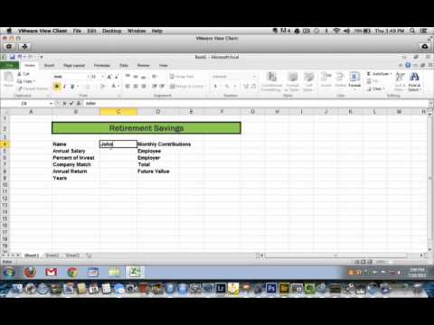 How to Calculate Retirement Savings Using Excel 2010 - YouTube