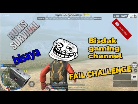 MEDKITS ENERGY DRINK AND GRENADE CHALLENGE FAIL (Rules of Survival Bisdak Gaming Channel)