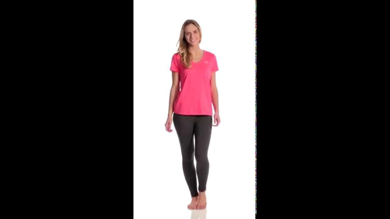 92ca74a9c36 Under Armour Women's Tech V-Neck Shirt | SwimOutlet.com - YouTube