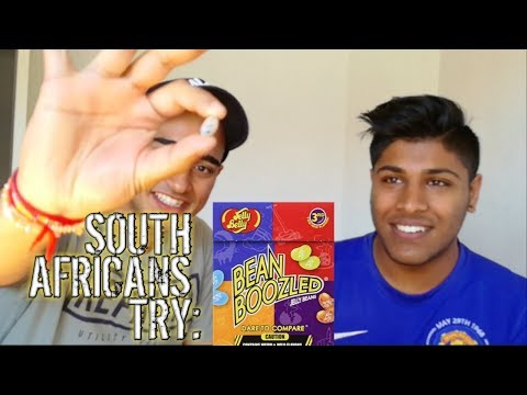 SOUTH AFRICANS TRY BEAN BOOZLED CHALLENGE