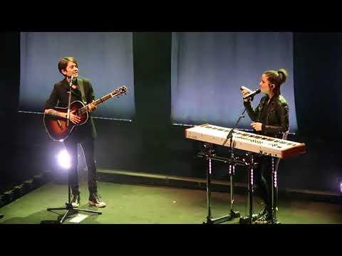 Tegan and Sara - Sara Tries The Shaker - Orpheum Theater - Boston, MA - 11/9/17