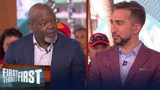 Emmitt Smith believes the 49ers have a good chance vs Chiefs | FIRST THINGS FIRST | LIVE FROM MIAMI