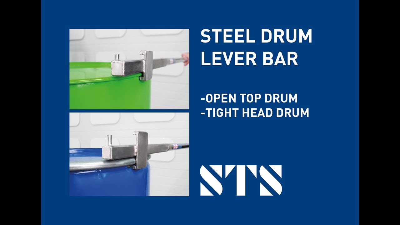 STS - Steel Drum Lever Bar Drum Positioning Tool (Model: LEV01 and LEV02)