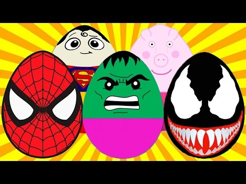 Открываем 100 Киндер Сюрпризов Игра Шоколадные Яйца Свинка Пеппа, Май Литл Пони, Человек Паук, Халк