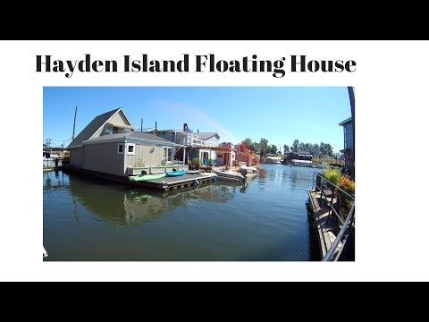 🔴Floating Home Living Hayden Island Portland Oregon Columbia River Marina