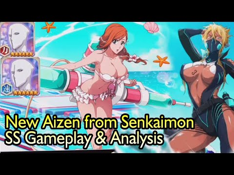 New Aizen Announced, Swimsuit Character's GAMEPLAY & STATS ANALYSIS/SENKAIMON REVEAL