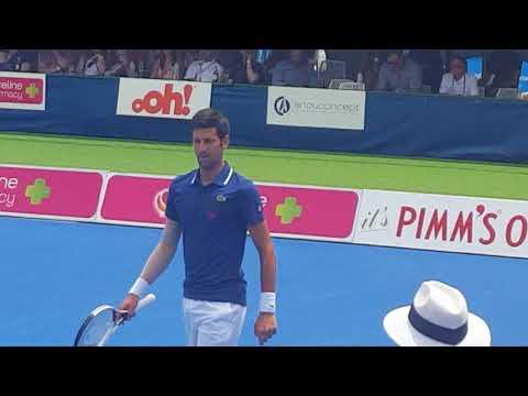 Djokovic vs Thiem @ Kooyong Classic Closeup