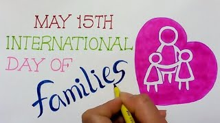 international family day poster drawing || how to draw